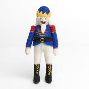 A Craftspring handmade felt nutcracker ornament