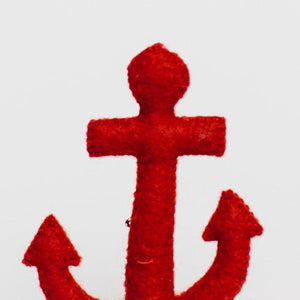 Red Ocean's Depth Anchor Ornament