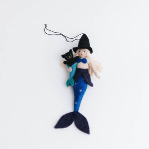 Purrfect Witch Mermaid Ornament