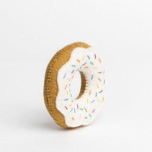 Rainbow Sprinkle Donut Ornament