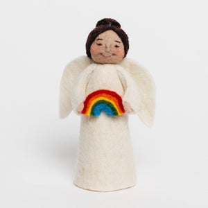 Rainbow Gift Angel - Brown