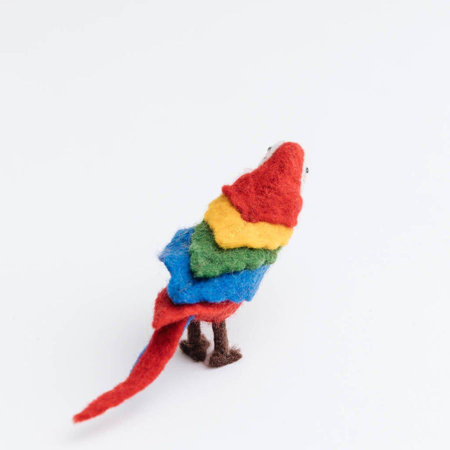 Red Voice of the Forest Parrot Ornament