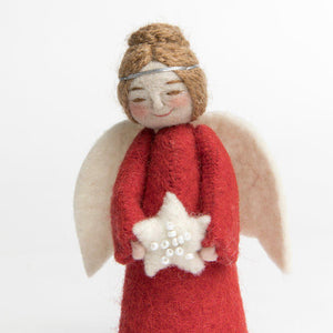 Red Shining Star Peace Angel