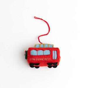 San Francisco Trolly Car Ornament