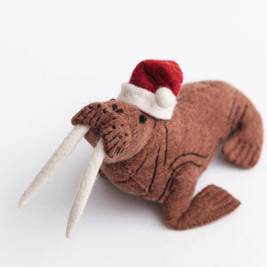 Santa Walrus Ornament