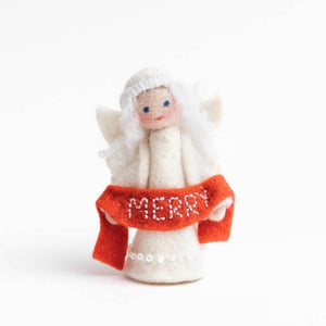 Season's Blessing Merry Angel Ornament