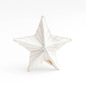 Silver Star Burst Tree Topper Small