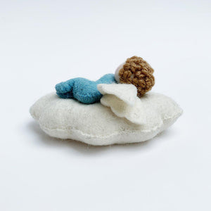 Blue Slumber Cloud Babe Ornament