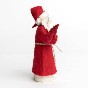 Snowy Garden Father Christmas Ornament
