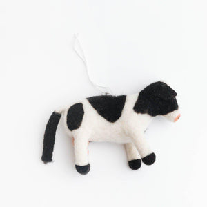 Sunny Meadows Cow Ornament