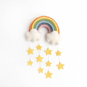 Yellow Twinkle Star Rainbow Medium Wall Hanging