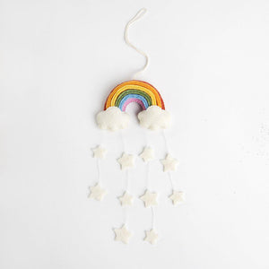 Twinkle Star Rainbow Ornament - White