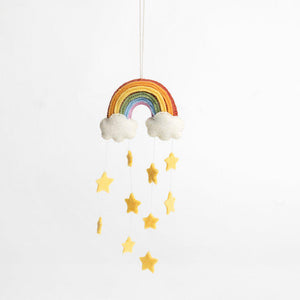Twinkle Star Rainbow Ornament - Yellow