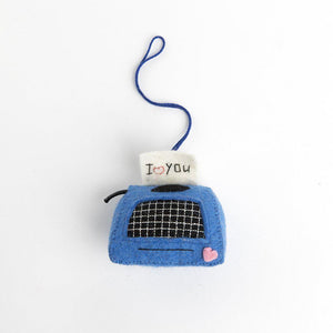 I Heart You Typewriter Note Ornament
