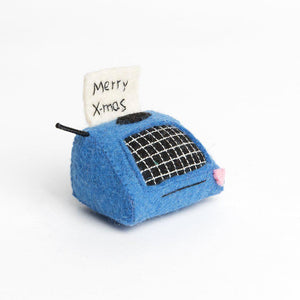 Merry X-Mas Typewriter Note Ornament