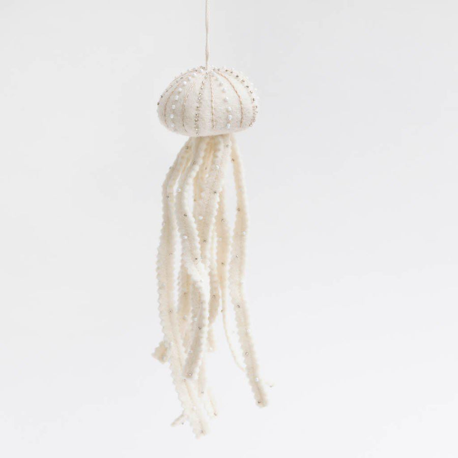 White Jellyfish Ornament
