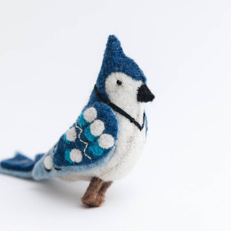 Winter's Blue Jay Ornament