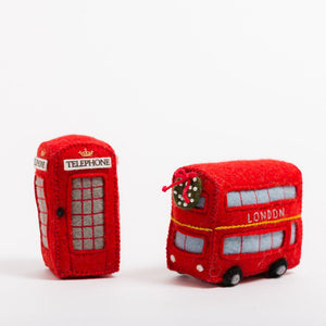 Double Decker London Bus Ornament