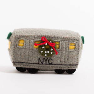 5 Train Subway Car Ornament