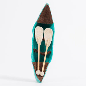 Blue River Bend Canoe Ornament