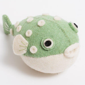 Green Big Puff Pufferfish Ornament