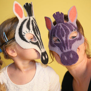 Safari Stripe Zebra Mask