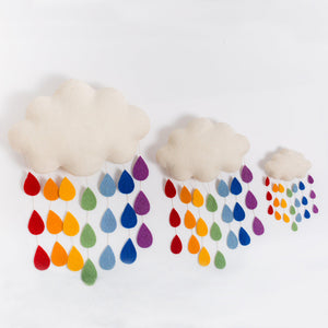 Rainbow Drop Cloud Ornament