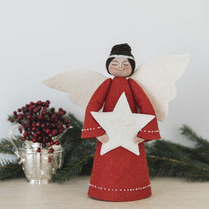 Red Beauty with White Star Topper - Brown