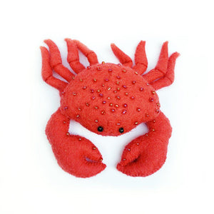 Red Constellation Crab Ornament