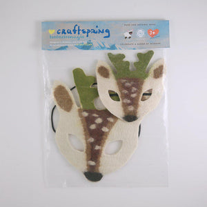 Snowdrift Reindeer Kid + Doll Mask Set