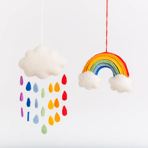 Rainbow Drop Cloud - Ornament