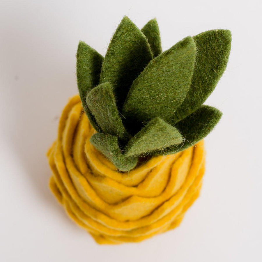 A Craftspring handmade felt pineapple ornament