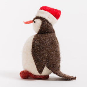 Santa Penguin Ornament