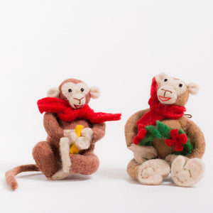 Christmas Monkey Ornament