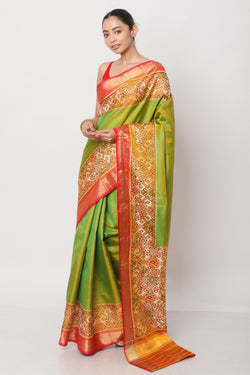 Green Pochampalli Saree