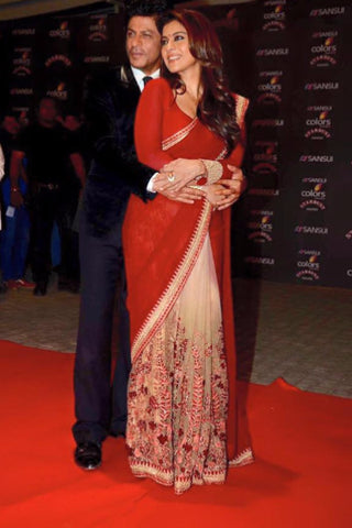 Red Kajol Saree
