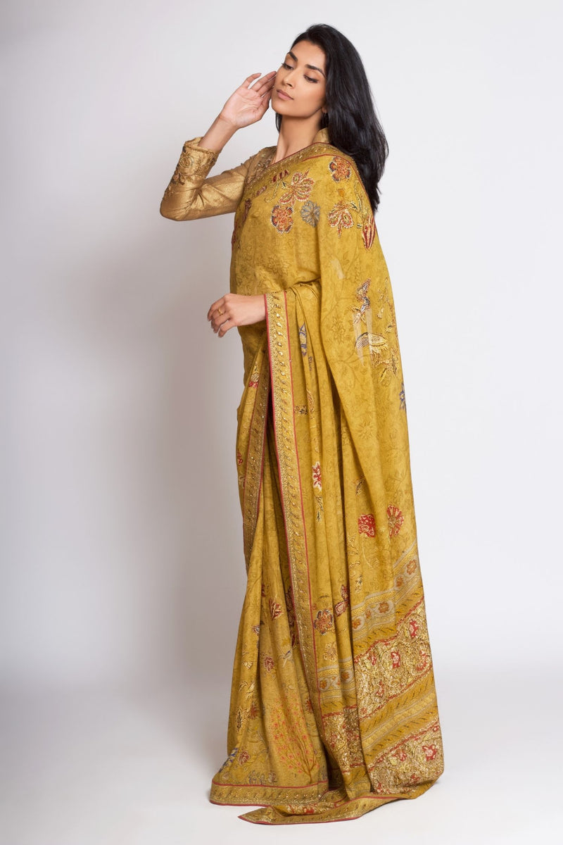 Ritu Kumar Printed Georgette Saree with Blouse