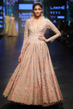 Bead Embroidered Anarkali Gown