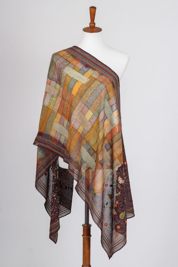 Multicolor Kantha Scarf