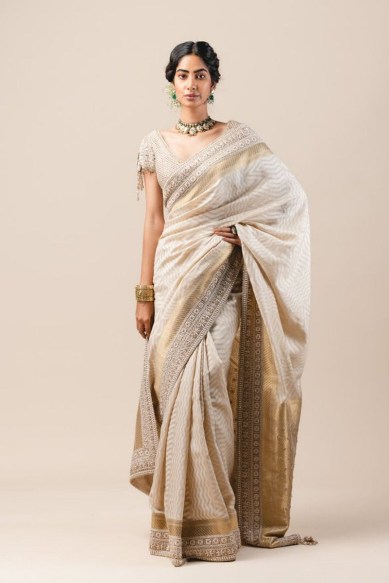 Moonga Cutwork Saree