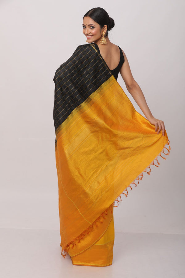 Black Kanjiveram Silk Saree