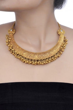 Silver Gold Plated Baahubali Necklace