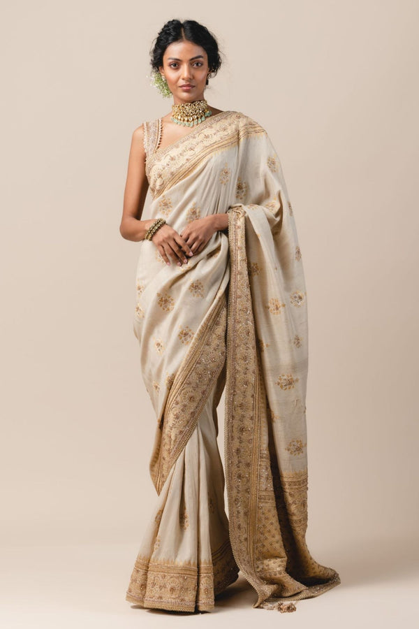 Tussar Brocade Saree