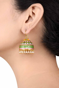 Alpana Silver Jhumki Earrings