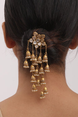 Amrapali Silver Gold Plated Hair Pin