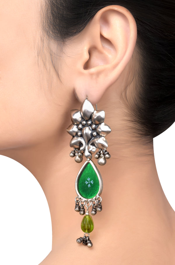 Alia Bhatt Silver Gold Plated Earrings