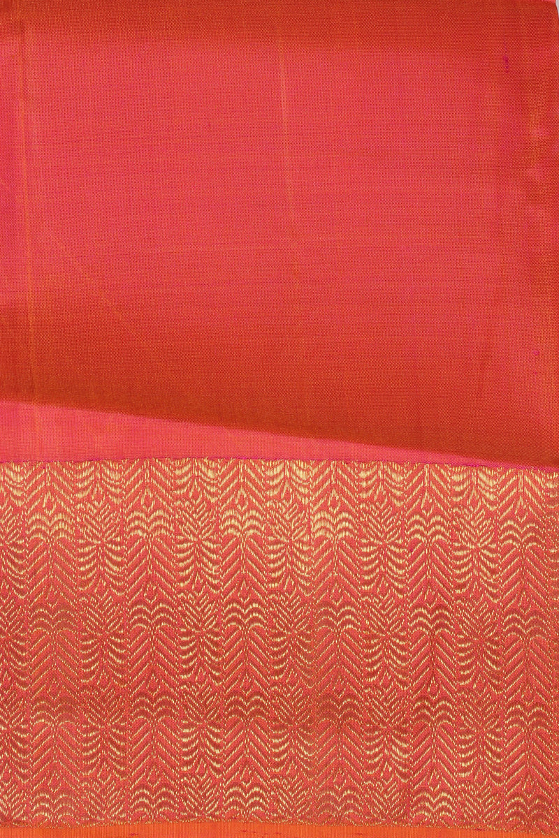 Orange/Pink shot color kanjiveram silk saree