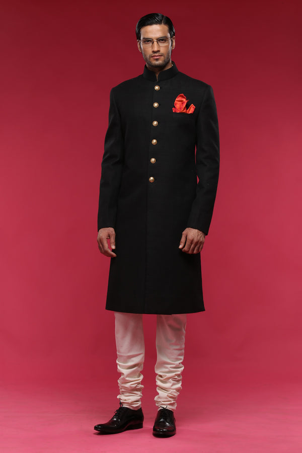 Black SD Sherwani
