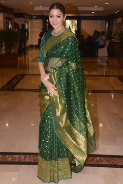 Anushka Sharma Green Chanderi Saree