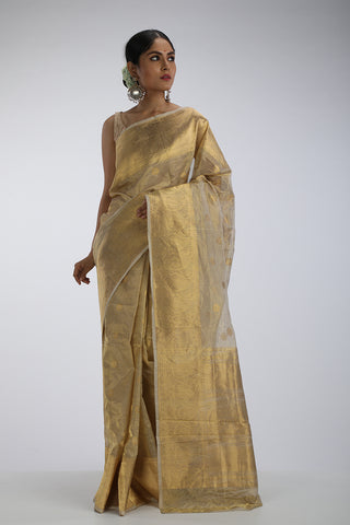 Gold Tissue Benarasi Saree
